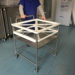 Transport trolley for AER trays