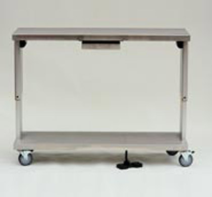 Electrically operated Packing Table pictured in the raised position