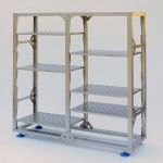Adjustable shelf stainless racking