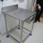 Stainless steel document table