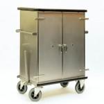 Tug bar on endoscope cart