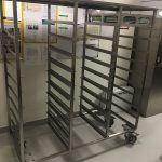 Tray storage trolley