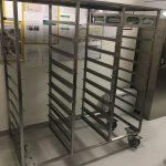 Tray storage trolley