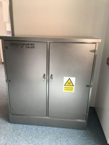 Bunded Stainless Steel chemical store