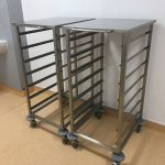 Open scope storage trollies