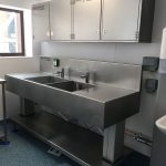 Wall units over endoscopy sink