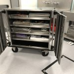 Cart with scope trays