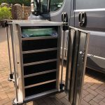 Neocare Closed and lockable endoscope trolley for vacuum packed scopes