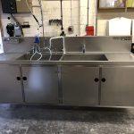Static decontamination wash sink