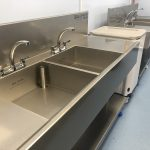 Two newly installed endo sinks
